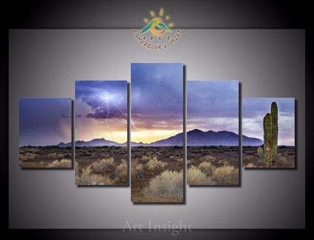 5 Teile Los Arizona Monsoon Ansichten Wandkunst Gemalde Bild Paiting