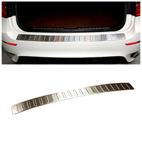 For BMW X6 E71 2009 2014 Stainless Chrome Rear Bumper Skid Protector Guard Plate Cover 1pcs