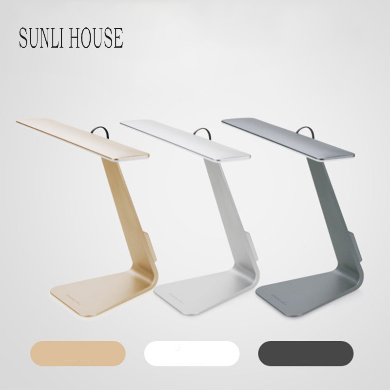 SUNLI HOUSE Fold Desk Lamp Ultrathin Mac Style 3 Mode Dimming Touch Switch Reading Light Eye Protection Soft Light Night Light