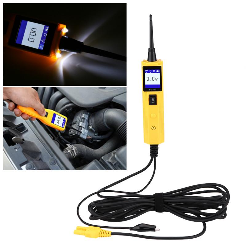 Car Automotive Circuit Tester Power Probe Voltage Test Electrical Testers Electrical System Diagnostic Tool universal automotive lcd digital voltage lamp circuit tester circuit voltage tracker car auto circuit detector diagnostic tool