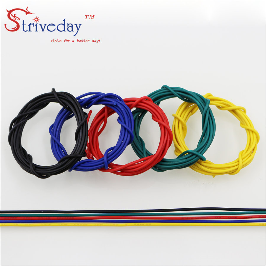 1 Meter UL 1007 <font><b>16</b></font> <font><b>AWG</b></font> Cable Copper Wire 10 colors 16awg Electrical Wires Cables DIY Equipment Wire image