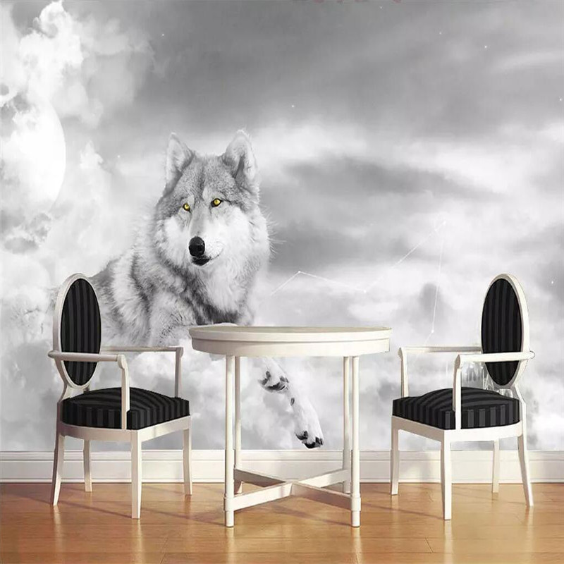 Art personality wallpaper Wolf Husky mural decorative painting professional custom photo