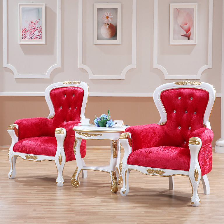 European-style tiger chair new classical Nordic solid wood sofa discussion chair single seat American meeting reception armchair the nordic chair solid wood chair cloth art single person sofa chair