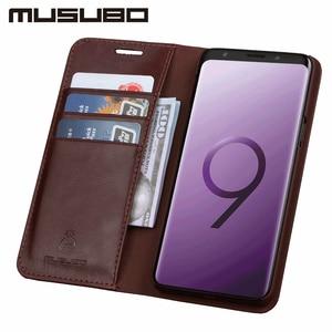 Image 2 - Musubo Bao Da Cao Cấp Dành Cho Samsung Galaxy S20 S10 S9 Plus S8 Plus S7 Edge Note 10 9 Vỏ lật Thẻ Ví Solt Capa