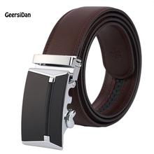 2017 men's fashion 100% Genuine Leather belts for men High quality metal automatic buckle Strap male Jeans cowboy JPH-24