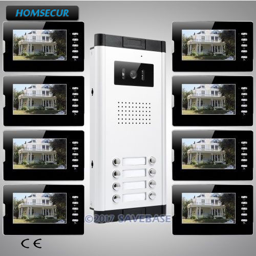 HOMSECUR 7 TFT Video&Audio Door Entry Kit with One Button Unlock for Secure HomeHOMSECUR 7 TFT Video&Audio Door Entry Kit with One Button Unlock for Secure Home