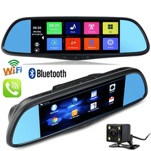 7 inch Android Mirror GPS Navigation DVR WiFi Bluetooth Phone Call Rear View Dual font b