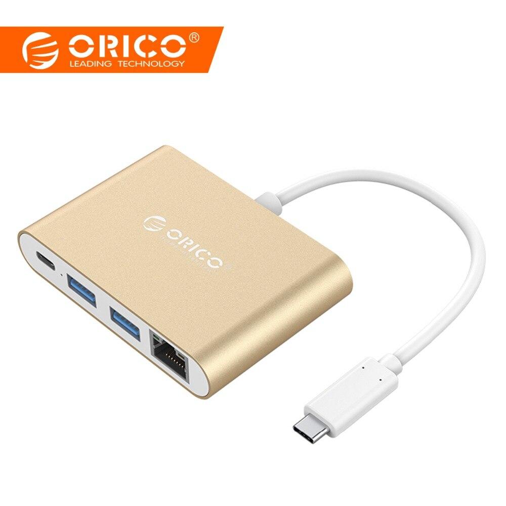 Moyeu en aluminium ORICO type-c à type-a/type-c/prise en charge du convertisseur HDMI poste d'ordinateur portable multifonction PD pour MACbook PC
