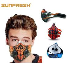 Fashion colorful cycling mask dust n99 neoprene outdoor motorbike mouth cover air filter anti odor smog smoke