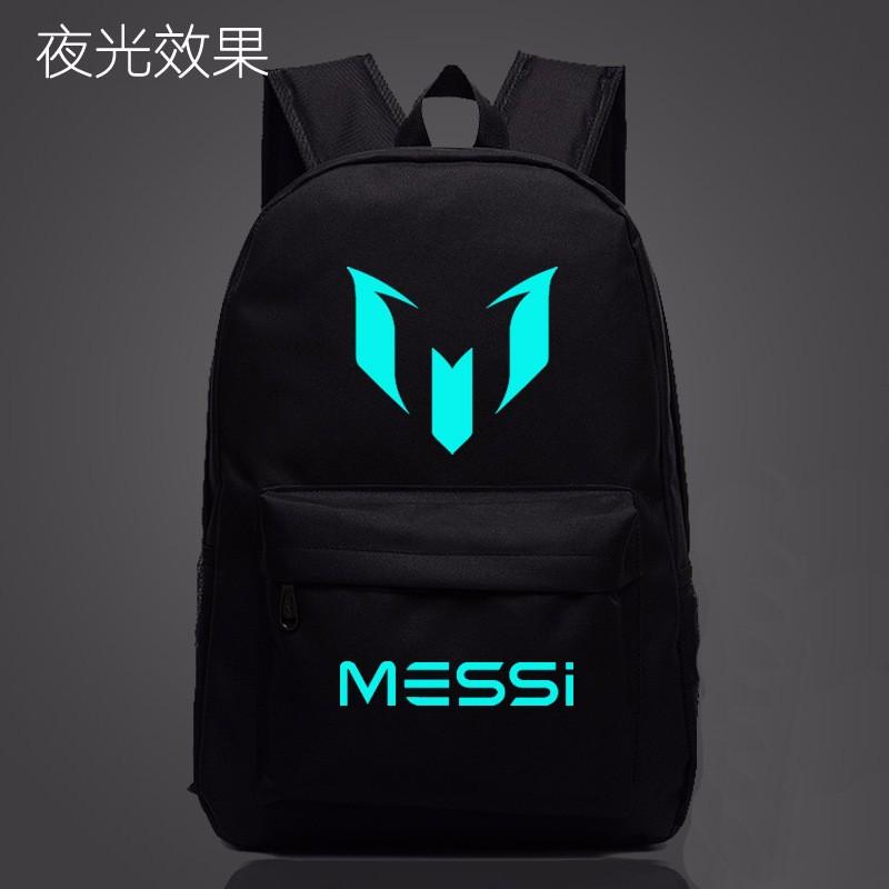Messi Drukowane Czarne Świecące Ramiona Plecak Torba Torba Na Laptop Tornister Nowy 1