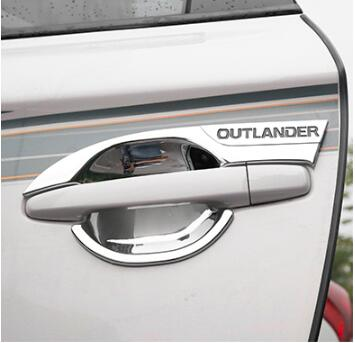 Luhuezu Chromed 4pcs Door Handle Bowl Cover For Mitsubishi <font><b>Outlander</b></font> Accessories 2013-2018 image