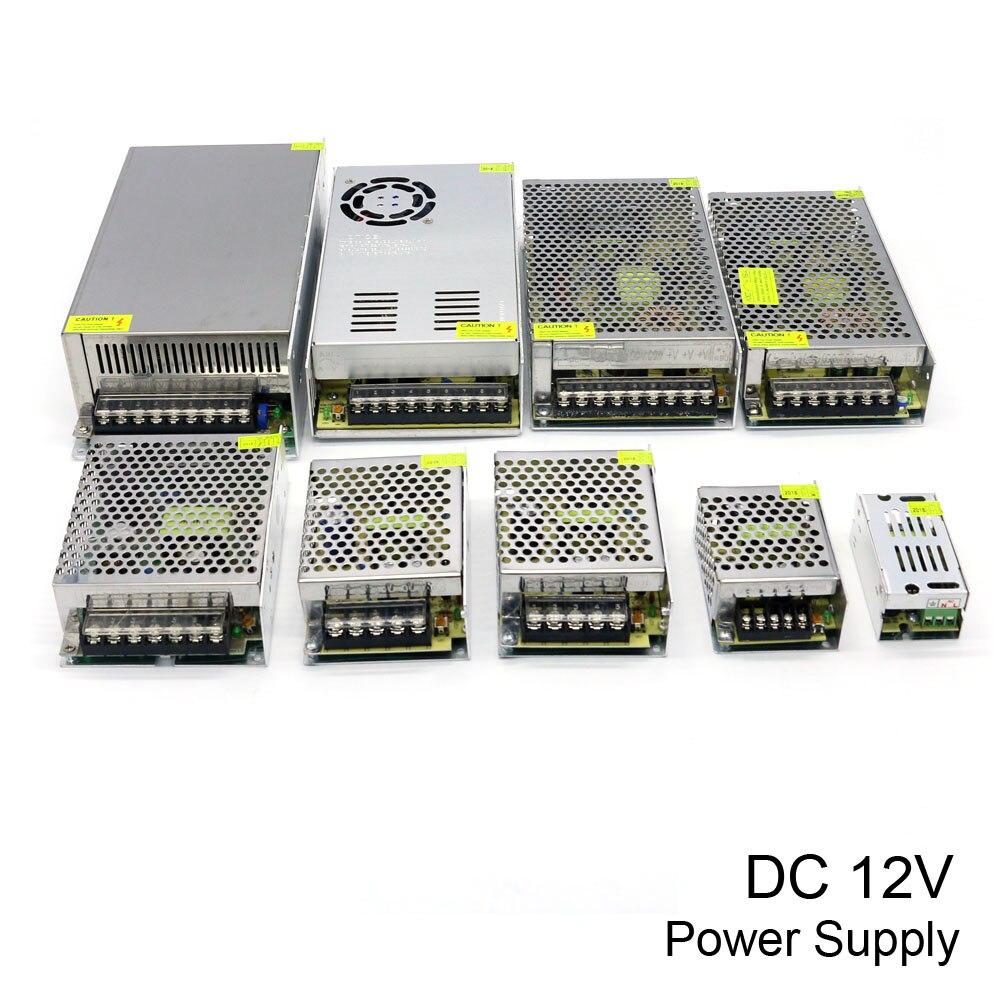 Potencia de conmutación fuente de alimentación DC 12 V 10A 15A 20A 30A 40A 50A 60A 100 W 120 W 150 W 200 W 240 W 350 W 500 W 600 W 720 W 800 W 1000 W para luces led