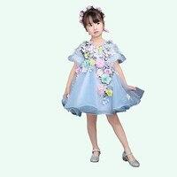 Children Girls Flower Dress Girls Wedding Party Parade Prom Princess Formal Occasion Dresses H07