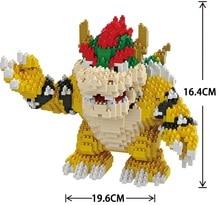 Balody Cartoon Action Figure Bowser Koopa King Anime Diamond Blocks DIY Building Toys for Kids Gifts brinquedos Children 16012