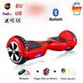 Zelf Balans Elektrische Staande скутер  6 5 дюймов  Bluetooth  светодиодный светильник  op Twee Wiel Smart Sk