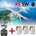 X5SW RC Quadcopter RC Helicóptero FPV 2.4 Ghz 4CH 6-Axis Com HD WI-FI Câmera Quad Helicóptero Brinquedos 3 Zangão Bateria Branco Em Estoque
