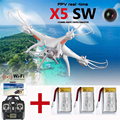 X5SW RC Quadcopter RC Helicopter FPV 2.4Ghz 4CH 6-Axis With HD WIFI Camera Quad Copter Toys 3 Battery Drone White In Stock