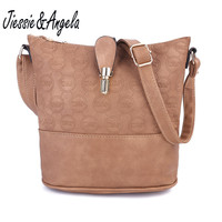 Jiessie Angela New Cross Body Women Bag Leather Handbags Vintage Shoulder Bags Fashion Messenger Bag Bolsas