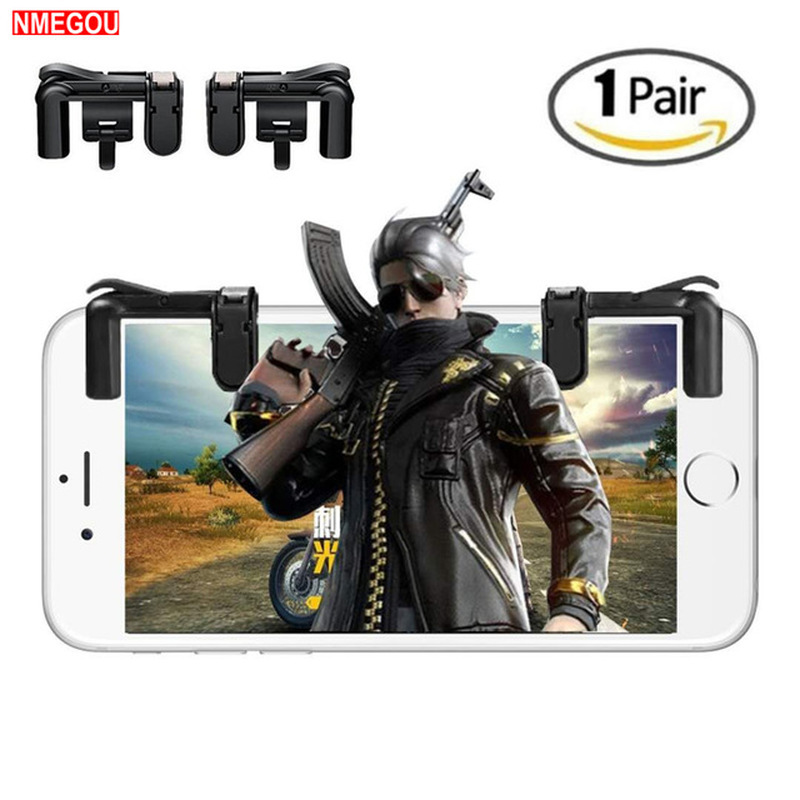 PUBG Trigger L1 R1 Mobile Phone Game Controller for IPhone Nokia Gaming L1R1 Touch Sensing Shooter Fire Buttons Keypad