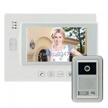 7 Inch Security Home Video Wired Intercom System Door Phone Doorbell IR Camera Monitor 1V1