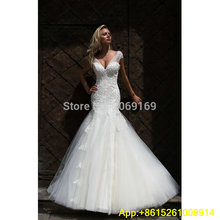 Cianlsria Mermaid Wedding Dresses Cap Sleeve Brides Dress