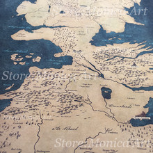 Game of Thrones World Map Poster