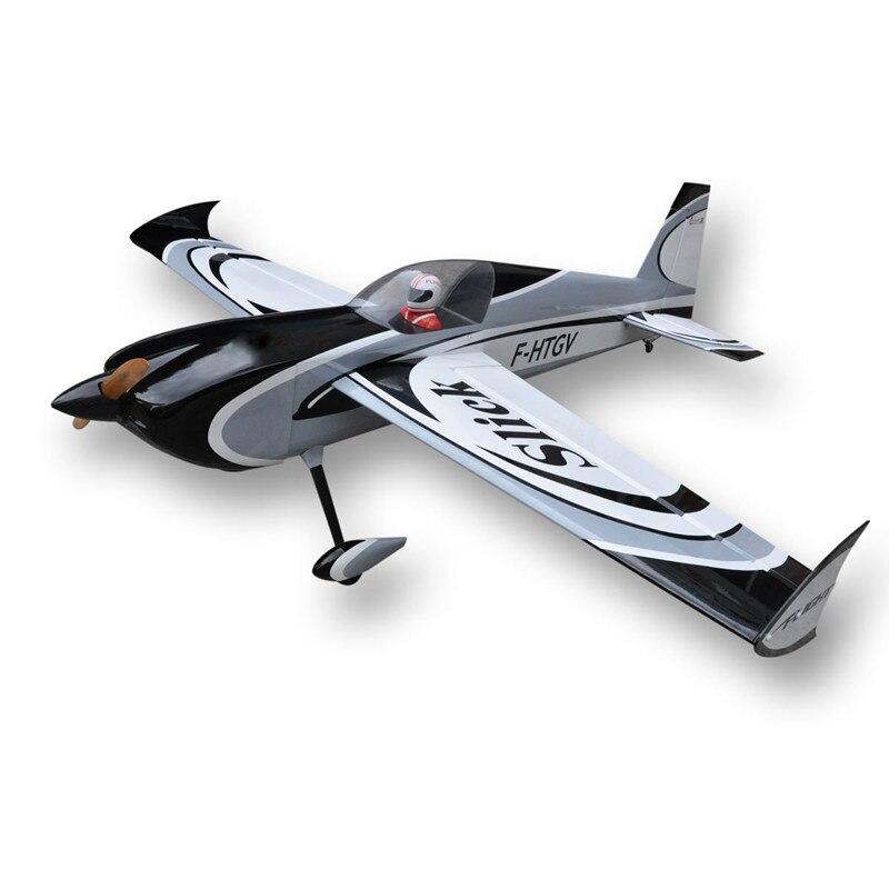 Новый Slick 60cc 80cc 91 Бензиновый Радиоуправляемый модель самолёта на радиоуправлении Balsa дерево фиксированное крыло Самолет Доставка rom США