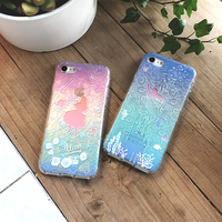 100pcs Cartoon Alice Wonderland Case For iPhone XS Max XR X Soft TPU Airbag Silicone Cover Case For 6 6S 7 8 Plus phoneg bag