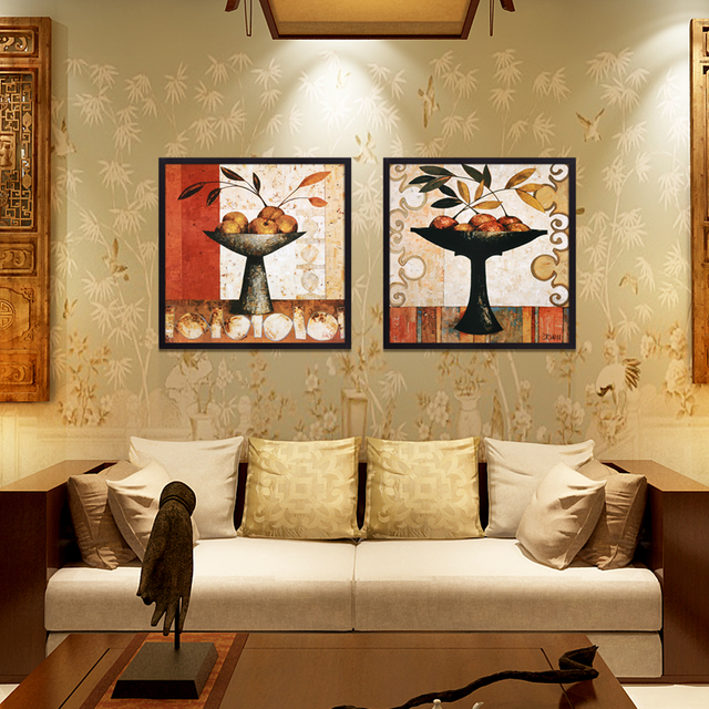 Fruit On Tray Printed On Canvas Hotel Bedroom Wall Art Oil Painting Study  Room Splendid Drawing