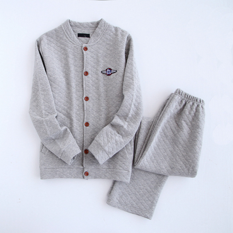 warm thick cotton men women Home Clothing winter pijama autumn sleepwear long sleeve long bottoms striped pyjama homme