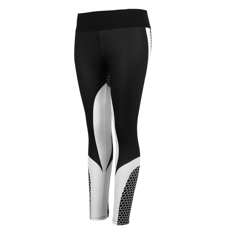 Leggings Printed Workout Women Mesh Pattern Fitness Leggings For Women Elastic Trousers Push Up Slim Black Pants 2018