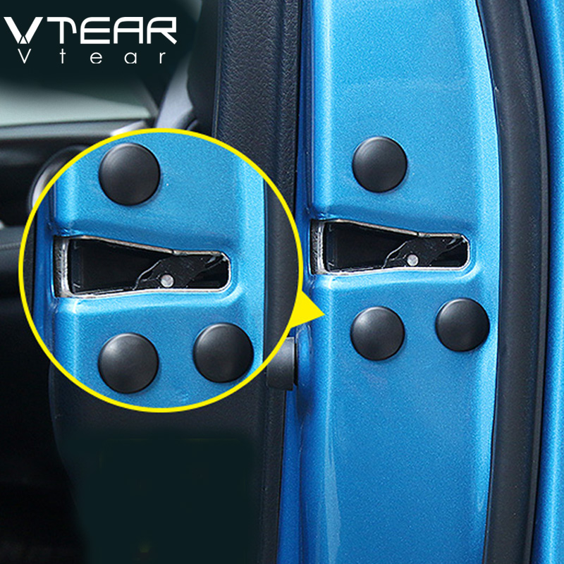 Vtear Car-styling door Lock screw protection cover For Hyundai Creta Toyota C-HR RAV4 2017 2018 accessories Exterior decoration
