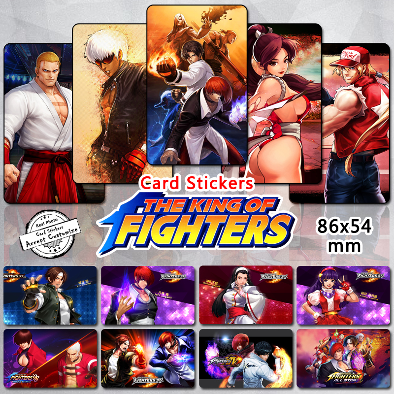 35pcs The King of Fighters Characters <font><b>Stickers</b></font> Kyo Iori Terry Geese Ryo Leona Kula Mai Classic Fighting Game KOF Series <font><b>Sticker</b></font> image