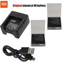 Bateria Original Xiaomi Yi 2 4 K + Dual USB Carregador de Bateria para Xiaomi Yi XiaoYi 2 4 K II 4 K Acessórios da câmera ação