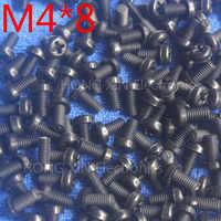 M4*8 Black 8mm 1pcs Round Head nylon Screw plastic bolts brand new RoHS compliant Fasteners Assortment PC/board DIY