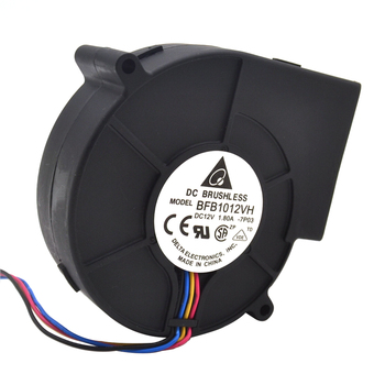 Original Delta 9733 turbo centrifugal cooling fan blower BFB1012VH 12V 1.80A wind capacity 97*97*33mm image
