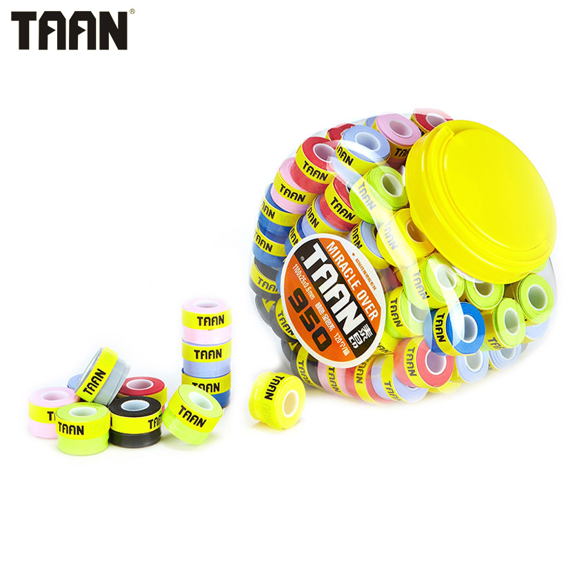 120Pcs/lot TAAN 0.6mm Overgrip Badminton Tennis Grips Super Thin Sweatband Professional Racquet Sports Accessories TW950