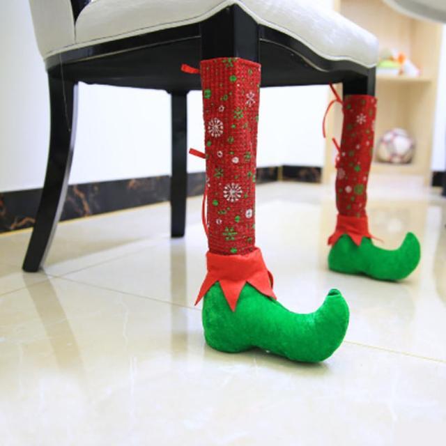 2018 decorazioni di natale ristorante bar sedie piedi set for Sedie decorate per natale