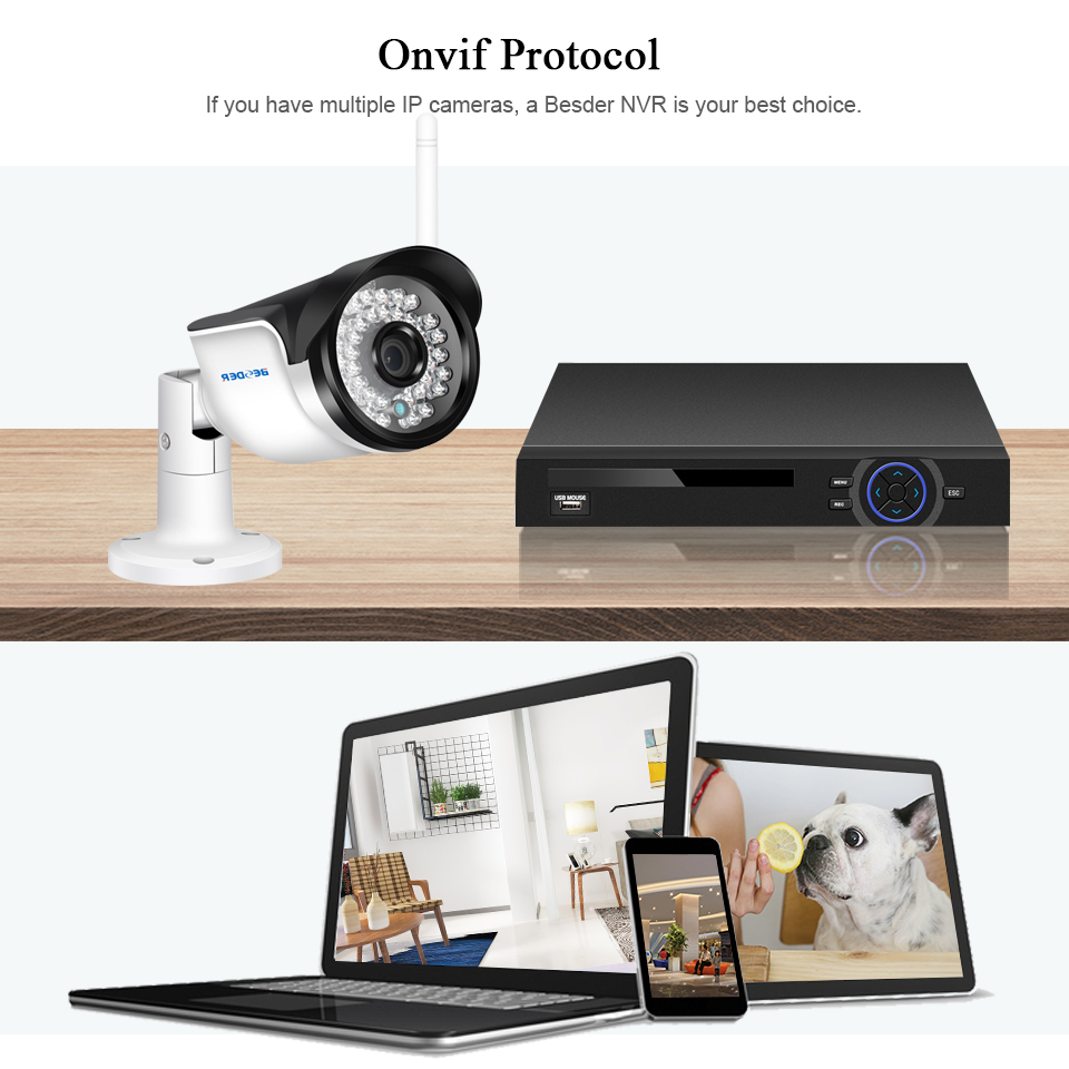 Image 2 - BESDER Wireless Outdoor Security Camera 1080P 960P 720P IR Night Vision Motion Detect ONVIF Bullet IP Camera WiFi + SD Card Slot-in Surveillance Cameras from Security & Protection