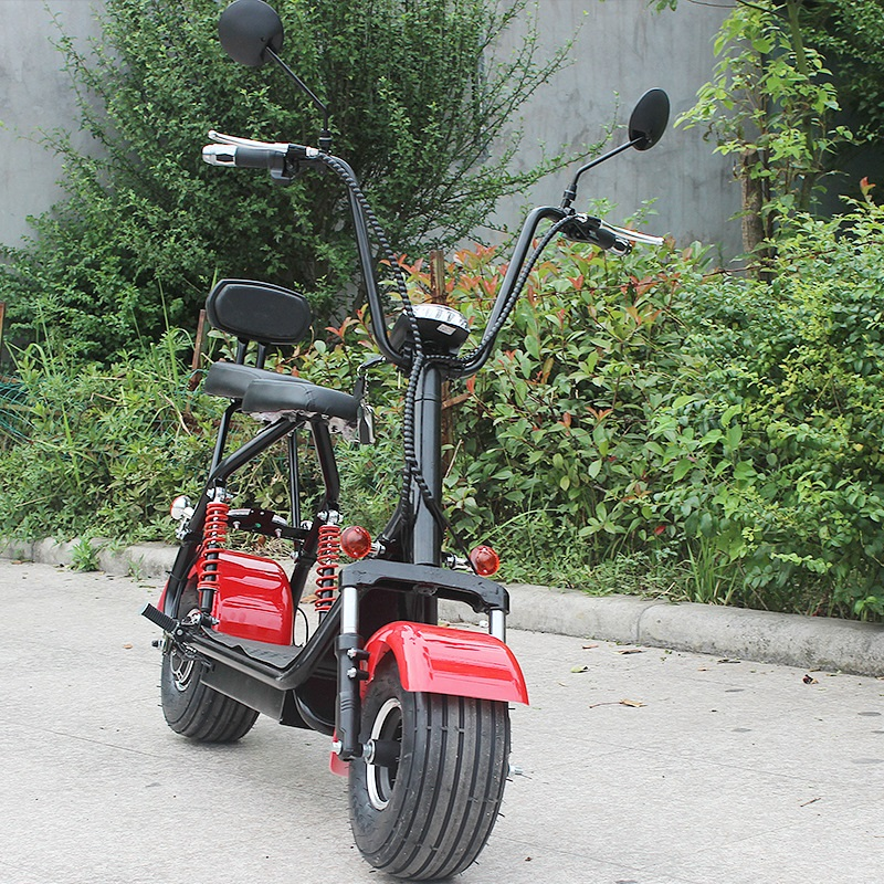 Electric Motorcycles <font><b>Scooter</b></font> Hydraulic Spring Samping 12A <font><b>1000W</b></font> Lithium Battery City <font><b>Scooter</b></font> Thickening Cushion Double Seat image