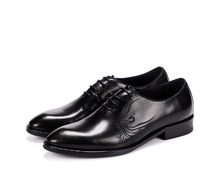QYFCIOUFU Fashion Mens Casual Lace Up Shoes Luxury Carving Dress Shoes Genuine Leather High Quality Cow Leather Wedding Shoes