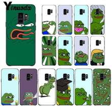 Yinuoda Cute Cartoon Frog Meme Animal Newly Arrived Phone Case for Samsung Galaxy S9 plus S7 edge S6 edge plus S5 S8 plus case(China)