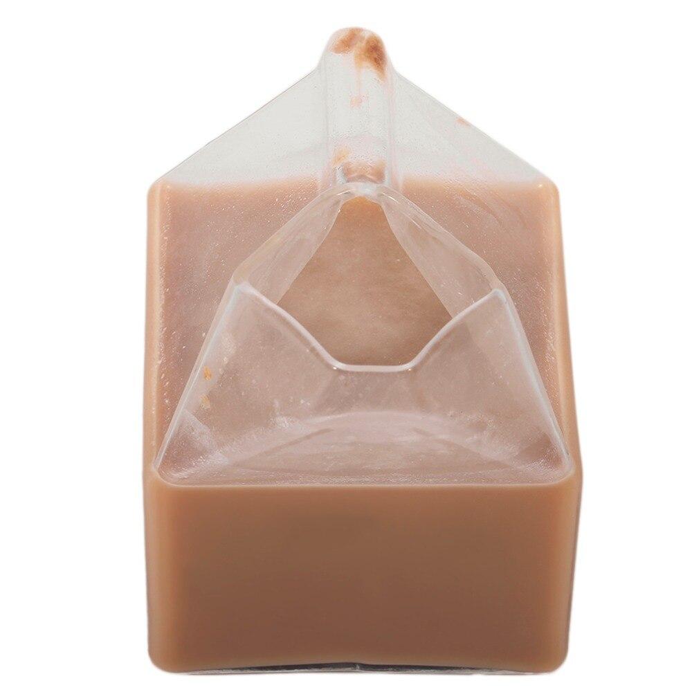 Творческий американский полпинты сливки молоко коробки Стекло чашки Кофе Стекло сок чашки уникальный Дизайн ремесла чисто ручной работы ...