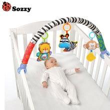 Newborn Crib Bed Hanging Bell/Rattles Toys Plush Lion/Monkey/Zebra Animal Clip Infant Baby Dolls For 0-2 Years Kids YH-1