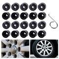 20pcs/lot New Black Anti-theft Wheel Lug Bolt Center Nut Covers Caps 1K0601173 for Volkswagen Jetta Golf MK5 Passat Touran Polo