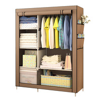 On Clearance Sale DIY Wardrobe Non woven Cloth Wardrobe Closet Folding Portable Clothing Storage Cabinet Bedroom Furniture