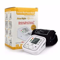Arm Type Electric Voice Tonometer Meter Health Care 99 Memory Blood Pressure Monitor Pulse Oximeter Household