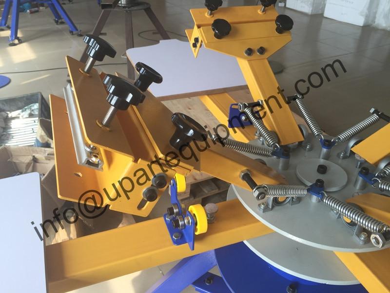4/6/8 stasiun mesin cetak manual silkscreen, 8 warna manual mesin - Elektronik kantor - Foto 2