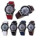 2016 Новая Мода Полые Аналоговые Часы Женщины Люксовый Бренд PU кожаный Браслет часы Дамы Кварцевые Платье Часы reloj mujer