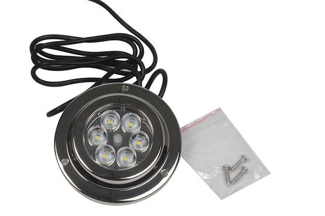 ハイパワー 18 ワット LED 水中ライト 12 12v マリンヨットボートステンレス鋼防水ランプブルー/ホワイト